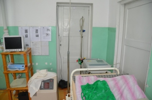 The Emergency Room in Khovd Hospital complete with ECG machine and O2 concentrator